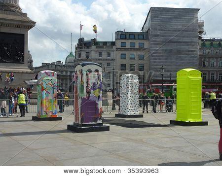 Bt Artboxes In Londons Trafalgar Square 19Th June 2012