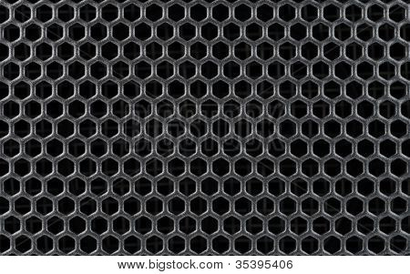 Steel Or Metal Textured Pattern With Hexagonal Cells