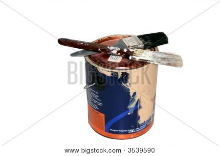 Paint Can And Brushes