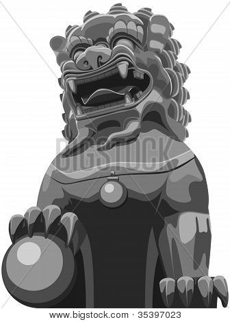 Chinese traditional lion pattern