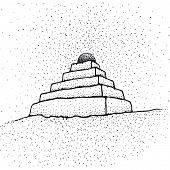 foto of ziggurat  - an illustration of a pyramid shaped building - JPG