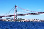 The Traditional Bridge Over The River Tagus (tejo)