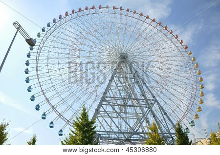 Ferris Wheel - Osaka City In Japan