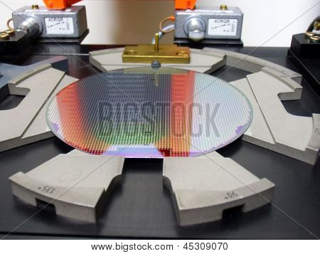 Silicon Wafer In einem Fach