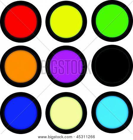 Button Web 3D Cyrcle