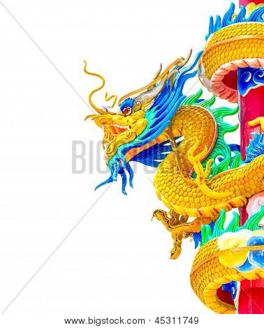 Dragon Chinese Isolated On White Background
