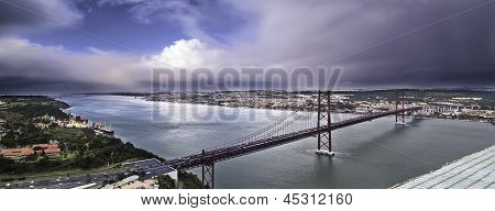 Estuary And Bridge