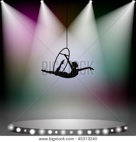 Acrobat Woman On Circus