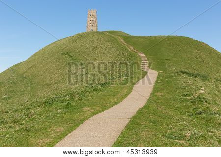 Glastonbury Tor Somerset England St. Michael's Tower
