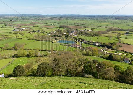 View from Glastonbury Tor Somerset