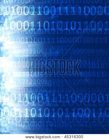 Bits und Bytes auf blauem Hintergrund