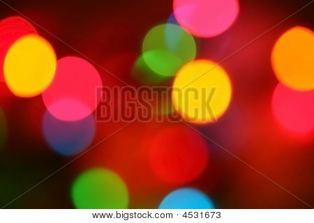 Colorful Party Lights Blurred And Out Of Focus