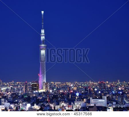 TOKYO - DECEMBER 16: Tokyo Skytree December 16, 2012 in Tokyo, JP. The Skytree is the world's second tallest structure.