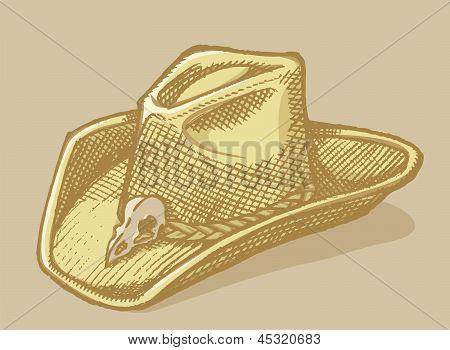 Bosquejo de sombrero Stetson