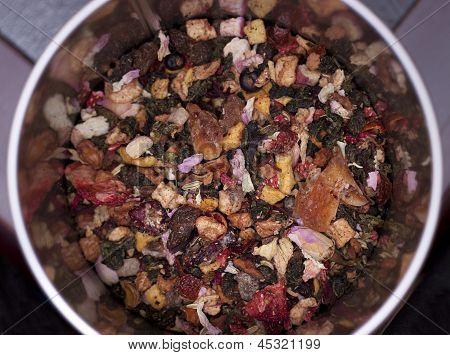 Loose tea leaves
