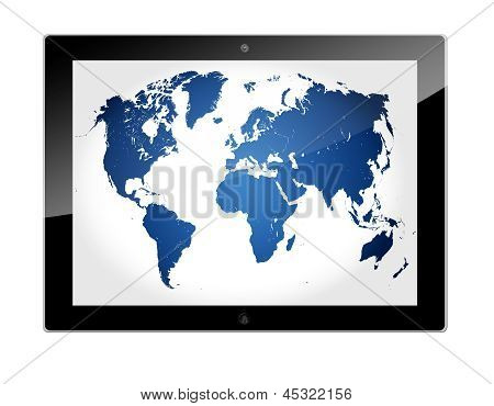 Tablet World Map