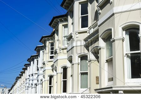 Terraced Houses Brighton Street England