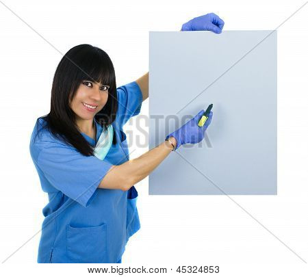 Latin Doctor With Surgical Uniform