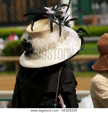 Kentucky Derby Chic:  Woman in Hat