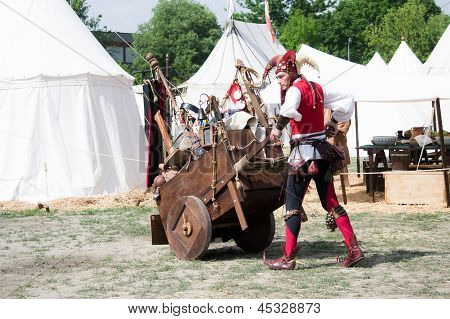 Jester With Cart