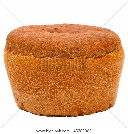 bread round black Russian isolated on white background clipping