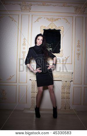 Girl In Black Classic Dress