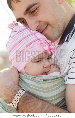 Pai com a filha dele