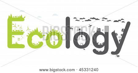 Ecology Infographic text. Vector illustration