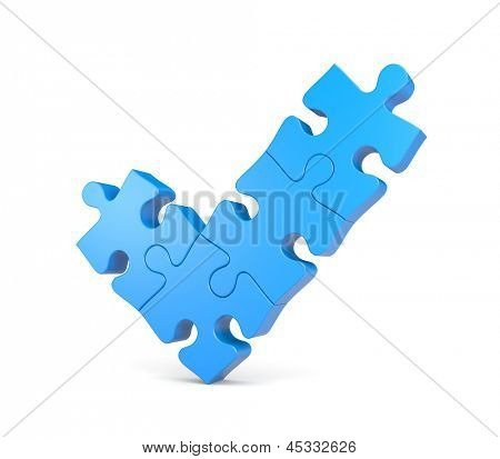 Check mark from puzzles