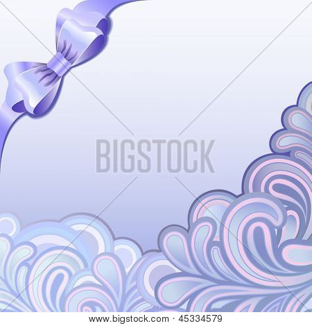 Purple splutter ornament with bow vector background with copy spaces.