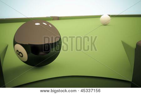 Eight Ball Next To Corner Pocket