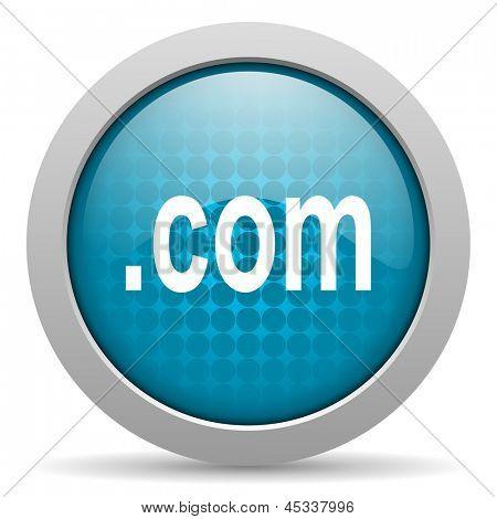 com blue circle web glossy icon
