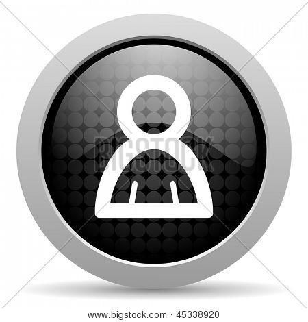 account black circle web glossy icon