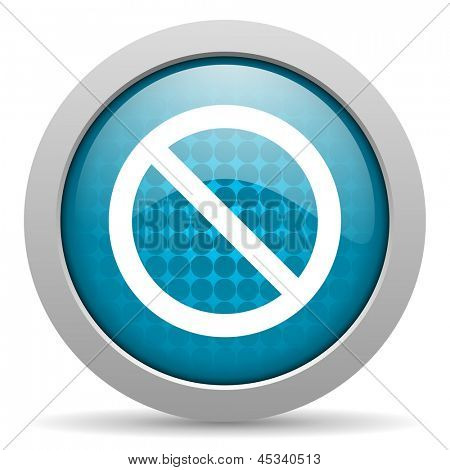 access denied blue circle web glossy icon