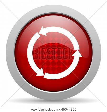 refresh red circle web glossy icon
