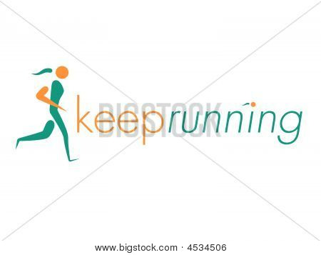 Keep Running Vector Logo Element