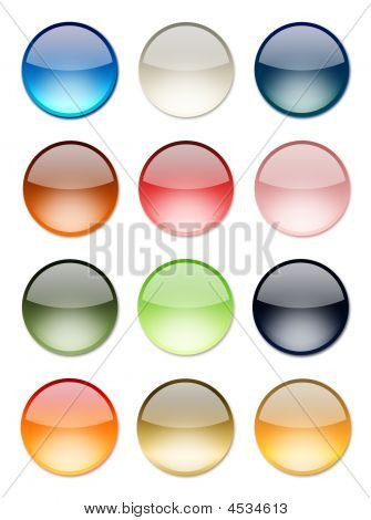 Shiny Button Set