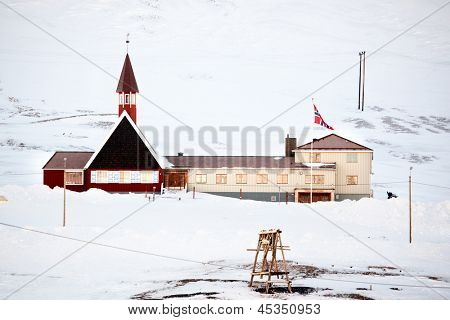 The church building in Longyearbyen, on the island of Spitsbergen, Svalbard, Norway