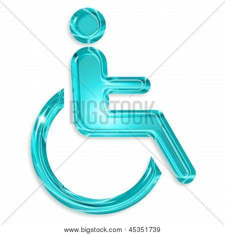 blue disabled symbol