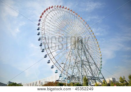 Ferris Wheel Near Tempozan Habor Village - Osaka, Japan