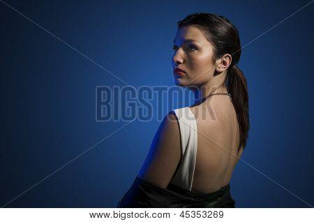 Beautiful Mysterious Woman