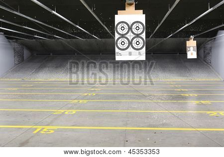 Target rows at a shooting range