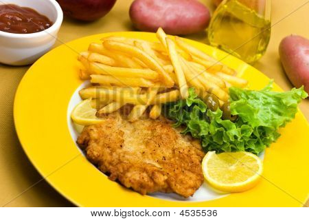 Dish, Meal, Chop, Veal, Diet, Deep, Pork, Junk, Cook, Menu, Loin, Fork, Food, Meat, Roast, Chips, Pl