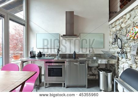interior of beauty house,  kitchen