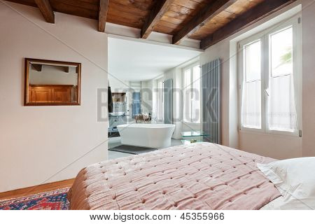 interior of beauty house, bedroom