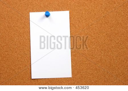 Empty Card On A Board Vertical With Space
