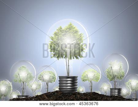 Idéia, o conceito de energia alternativa de lâmpada