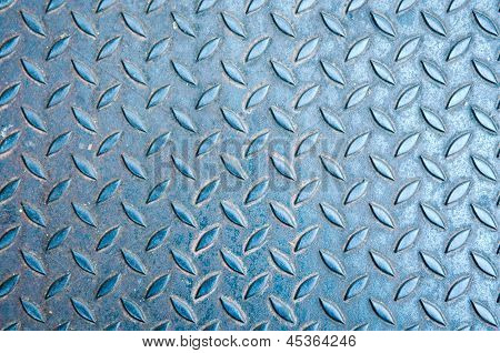 Old Diamon Plate Metal Background