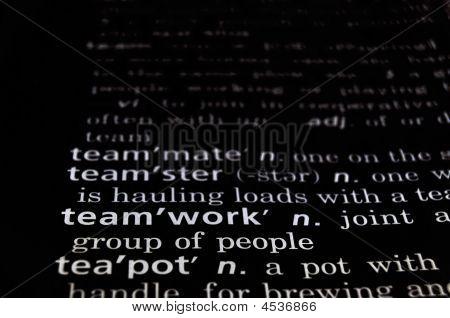 Teamwork Defined On Black