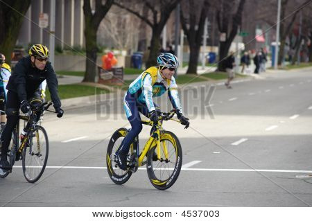 Lance Armstrong and Levi Leipheimer